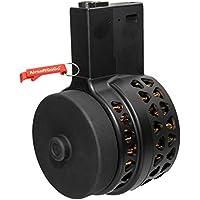 1000rds Drum Cargador para M4 / M16 Serie Airsoft AEG (Negro) - AirsoftGoGo Llavero Incluido