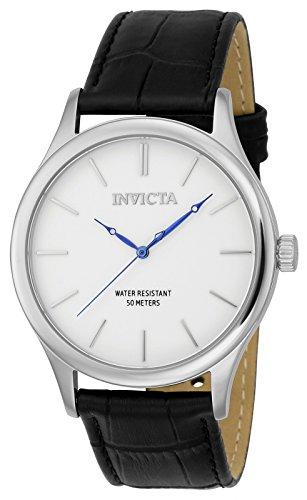Invicta 23023 Vintage Reloj para Hombre acero inoxidable Cuarzo Esfera blanco