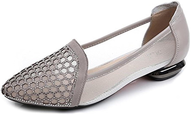 XZGC Sandalias con Estilo Mujeres Zapatos Planos Baotou Expuestos
