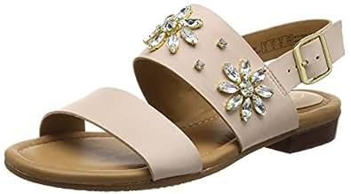 clarks viveca melrose damen slingback sandalen beige nude leather 39 eu 5 5 damen uk. Black Bedroom Furniture Sets. Home Design Ideas