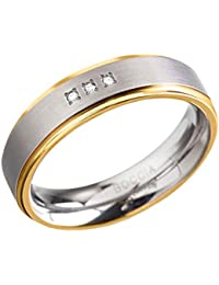 Boccia Damen-Ring Titan Diamant (0.03 ct) weiß Brillantschliff - 0134-04