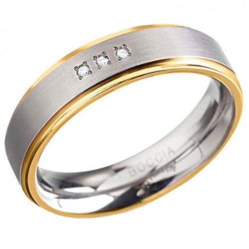 Boccia Damen-Ring Titan Diamant (0.03 ct) weiß Brillantschliff Gr. 54 (17.2) - 0134-0454