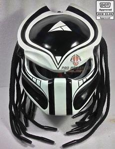 Sy15personnalisés Predator Moto Dot/ECE Approuvé casque Noir mat, noir mat