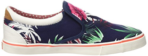 ... Wrangler Damen Icon Slip On Canvas Sneakers Blau (385 Blue Tropical)