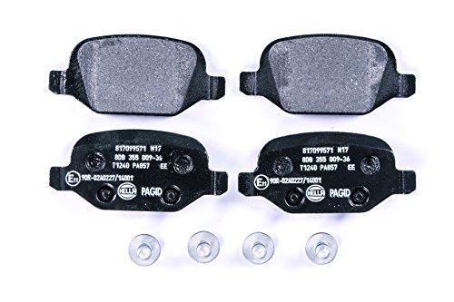 HELLA PAGID 8DB 355 009-361 Kit pastiglie freno, Freno a disco, Assale posteriore