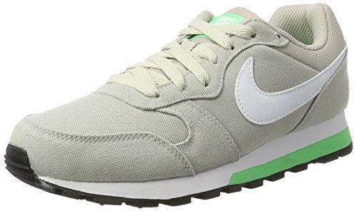 Nike Damen Wmns MD Runner 2 Sneaker, Grau (Pale Grey/Electro Green/White), 40.5 EU (Wmns 2 Running Schuhe)