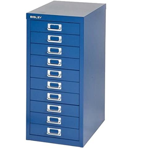 Bisley 10 Exec Multidrawer Filing Cabinet 29/10 - Oxford Blue