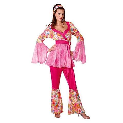 Super Luxe Damen-Kostüm Hippie-Diva, -Hippiekostüm-Party-Girl- M