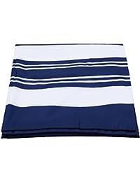 TOOGOO Poliester Azul y Blanco a Rayas Playa Toalla Cuerpo Yoga Mat Toalla Colgando de la