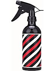 Amcool Multifunktional Leer Sprühflasche Friseur Wassersprüher Haar Werkzeug 500ML (Schwarz)