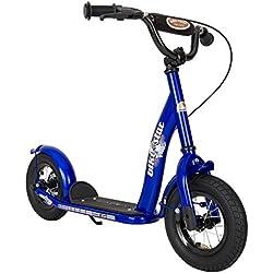 Bikestar Trottinette Enfant 2 Roues pour Garcons et Filles DE 4-6 Ans ★ Patinette 10 Pouces Classique avec Grande Roues pneumatique ★ Bleu