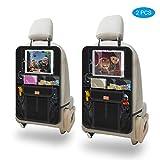 AEMIAO 2 Pezzi Protezione Sedili Auto Bambini, Proteggi Sedile Auto, Organizzatore Sedile Posteriore Impermeabile con Supporto per Tablet Up to 12.9' per Sedile Auto per Bambini - Facile da Pulire