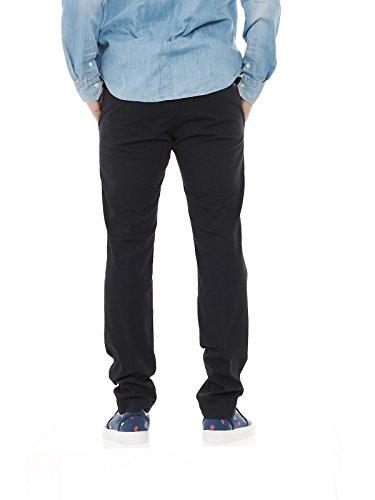 Entre Amis P178201 1089 pantaloni uomo chino micro fantasia slim fit Blu