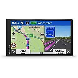 Garmin - DriveSmart 65 - GPS Auto - 6,95 pouces - Cartes Europe 46 pays - Cartes, Trafic et Zones de Danger gratuits - Très grand écran lumineux - cartographie 3D - Appels mains libres