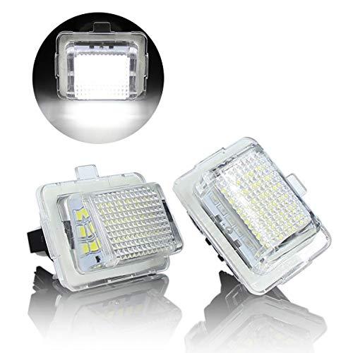 YUGUIYUN Auto Kennzeichenbeleuchtung Nummernschildbeleuchtung 18 LED Bright Weiß Lampen Leuchtmittel für W204 W221 W212 W216 (2pcs) Class Led