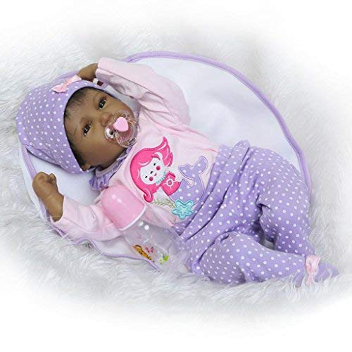 Nicery Reborn Baby Doll Indian Style 22 inch 48-55 cm Children Friend Soft Simulation Silicone Vinyl Magnetic Mouth Lifelike Boy Girl Toy Black Friday Christmas