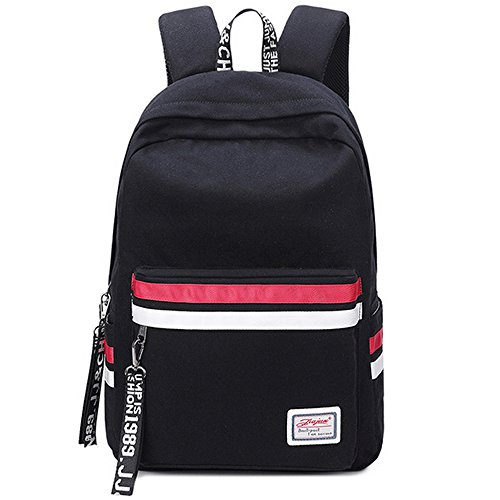 Laptop zaino donna canvas scuola borse ragazza adolescente viaggio outdoor borsa a tracolla nero