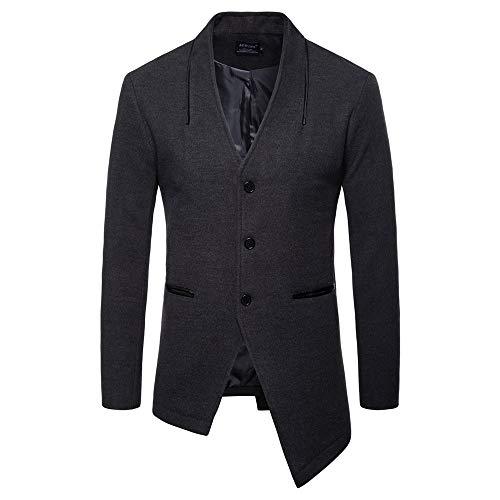 Herren Cardigan Jacke,TWBB Jacket Trench Coat Unregelmäßig Windjacke Pullover Afrikanischer nationaler Lange Ärmel Mantel