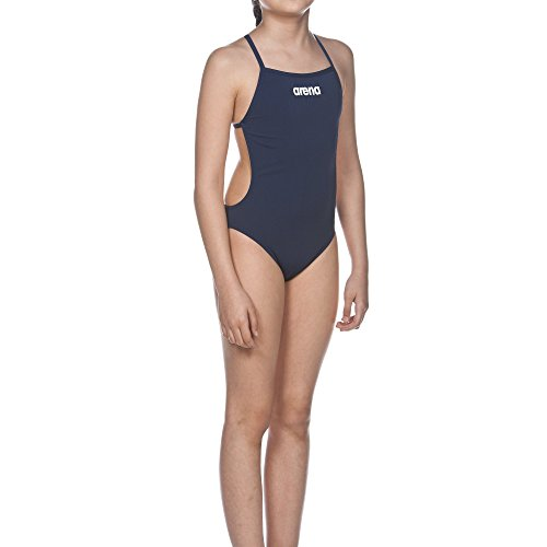 Arena Mädchen Badeanzug Solid Lightech Junior navy/White