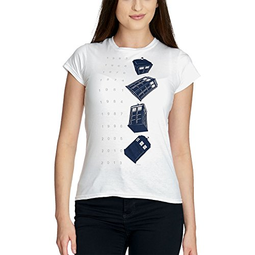 Doctor Who Twisting Tardis Girl-Shirt weiß M