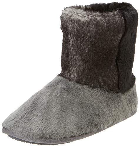 Isotoner Faux Fur Boot Slippers, Chaussons Bas Femme