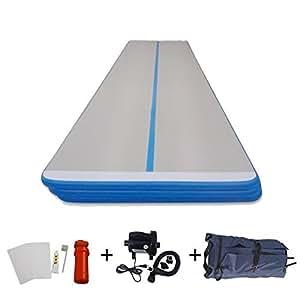 tapis de gym gonflable poser sur le sol ibigbean longueur 1 8 m largeur 15 cm gris. Black Bedroom Furniture Sets. Home Design Ideas