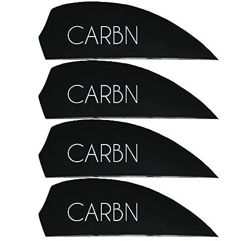 4x G10 fins Black Carbn Logo, Kiteboardfinnen, Buldog, wakeboard fins, G10, fin, fins, M6, surfboard fins, Black