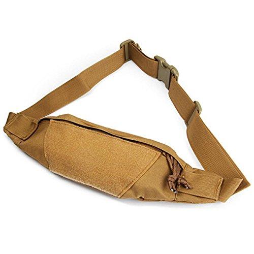 tactique ruifu Fanny Pack taille sac pochette sac de ceinture imperméable pour escalade randonnée extérieur Sac Banane, Kaki