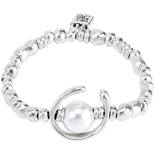 Uno de 50 Femme Plaqué argent Blanc Perl