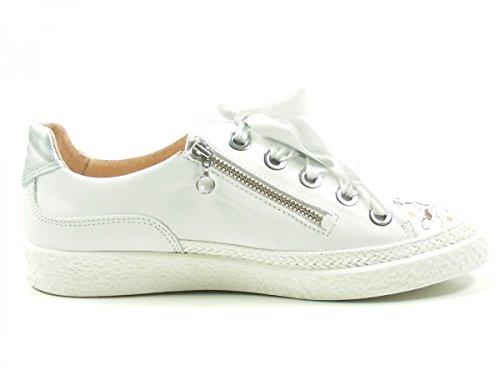 Softwaves 7-01-30B Schuhe Damen Halbschuhe Sneaker Schnürschuhe Weiß