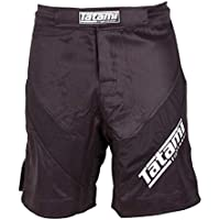 "'Tatami Fight Pantalones Cortos Dynamic Fit ""IBJJF–Black–MMA Fight Fitness No GI MMA BJJ Pantalones Cortos, color negro, tamaño medium"
