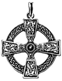 Cruz celta colgante (Celtic Cross 925SS), Plata de ley 925, diseño cruz celta Cadena, Celta joyas