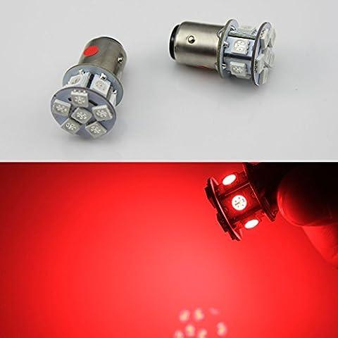 2pcs 6V 1156BA15S 12LED SMD Ampoule de voiture de frein/Turn/queue/arrière lumière AC/DC