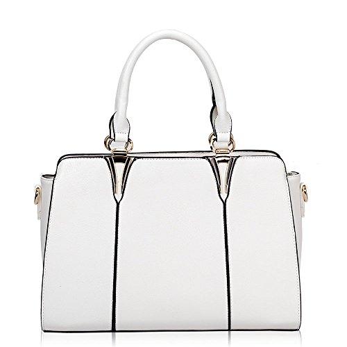 HB Style - Borsa sacchetto stile lusso Ragazza donna White