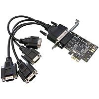 KALEA-INFORMATIQUE - Carte Controleur PCI Express (PCIE) Série RS232 4 Ports SUR PIEUVRE- Chipset MOSCHIP MCS9904 - WINDOWS 95, 98SE, Me, NT, 2000, XP, Vista, Seven, 8, 8.1, 10, Linux, DOS.