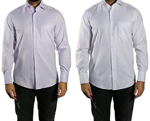 MUGA -  Camicia classiche  - A righe - Maniche lunghe  - Uomo Bianco