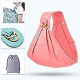 Tragetuch, einstellbare multifunktionale Baby-Ring-Schlinge, Einheitsgröße, ideal für Säuglinge und Babys, bis zu 0,96 Monate (Rosa),Pink