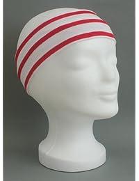 Stirnband weiss - rot gestreift verschiedene Größen von Modas