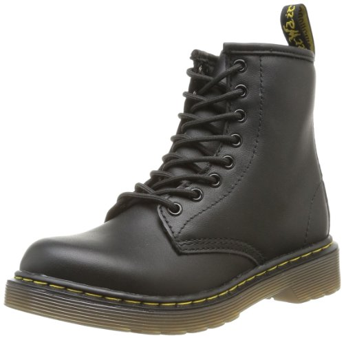 Dr. Martens DELANEY Softy T BLACK, Unisex-Kinder Bootsschuhe, Schwarz (Black), 33 EU (1 Kinder UK) (1 Martens)