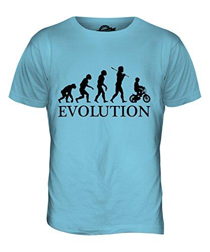 CandyMix Fahrrad Evolution Des Menschen Herren T Shirt Himmelblau