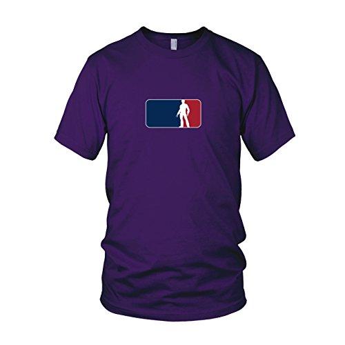 Logan League - Herren T-Shirt, Größe: XXL, Farbe: lila