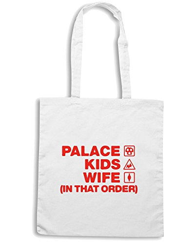 T-Shirtshock - Borsa Shopping WC1058 palace-kids-wife-order-tshirt design Bianco