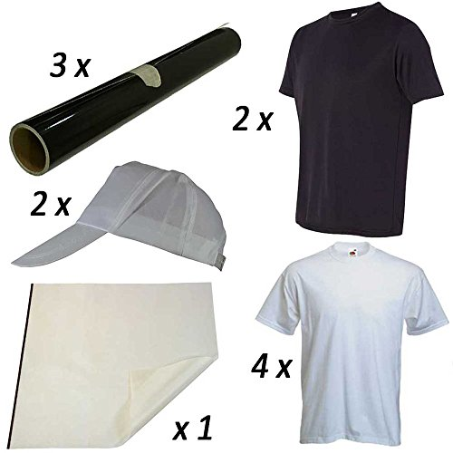 PixMax - Set PRESStige con Magliette e Cappellini per il Trasferimento Termico del (Trasferimento Termico Materiale)