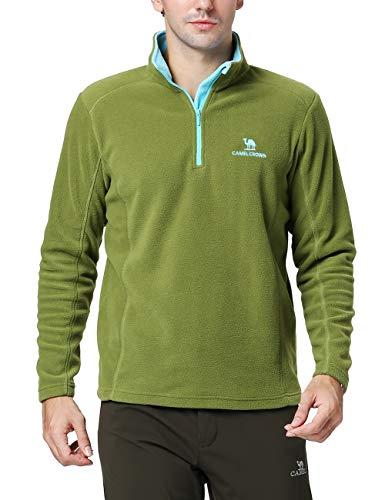 Outdoor-half Zip Pullover (Camel Herren Sweatshirt Half Zip Fleece Langärmlig Ski Shirt Grün XXL)