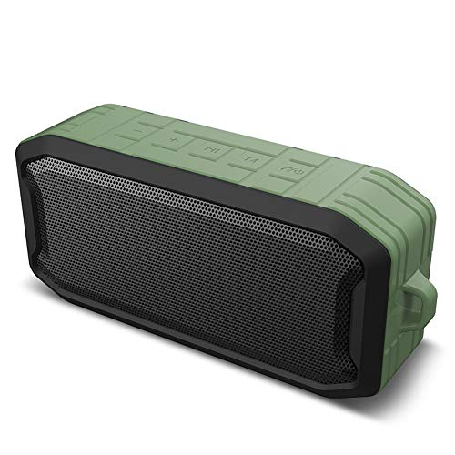 Tragbare Bluetooth 5.0 Lautsprecher wasserdichtes IPX7 mit drahtlosem Lautsprecher,Stereo Sound und verstärktem Bass,TWS und FM Radio,eingebautes Mikrofon für Camping Beach Sports Pool Party-Green