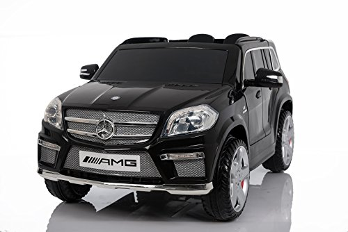 Mercedes Benz GL63 AMG Jeep SUV Lizenz Kinderfahrzeug mit 2x 35W Motor Kinderauto Elektroauto Fernbedienung MP3 Anschluss in Schwarz