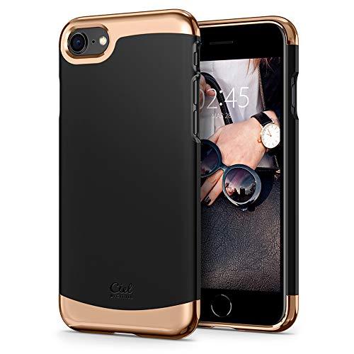 CYRILL Ciel by [Colene Kollektion] iPhone 8 054CS24557 Hülle Stylish Schwarz und Gold 3-teiliger Schutz Bumper Hardcase Cover Kompatibel mit iPhone 8, Kompatibel mit iPhone 7 - Schwarz (Matte Black)