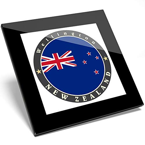 Destination Vinyl 1 x Neuseeland Wellington Red Stars Glasuntersetzer - Geschenk für Küche und Student #5090 -