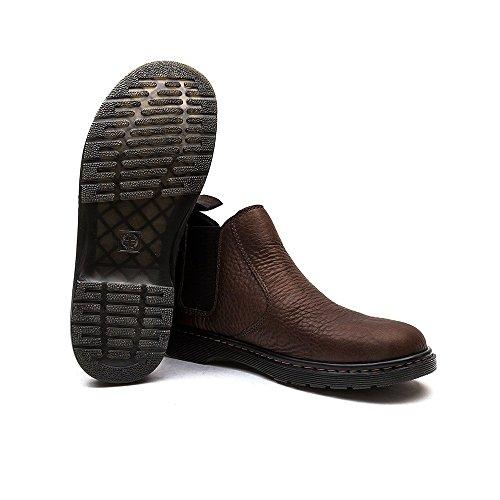 Dr.Martens Mens Conrad Leather Boots Dark Brown