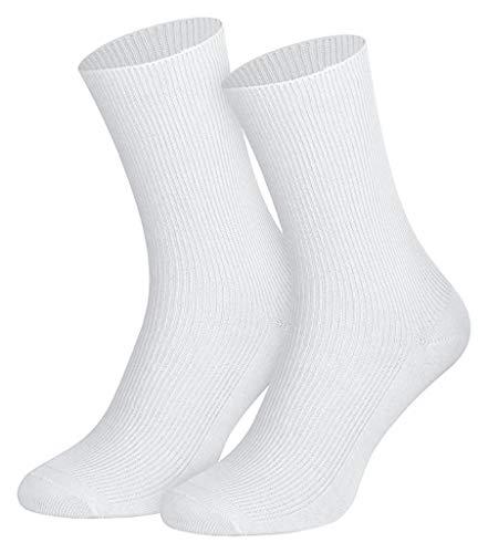5 Paar Socken weiss 100% Baumwolle 35-38